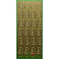 Stickersy złote bałwanki BN