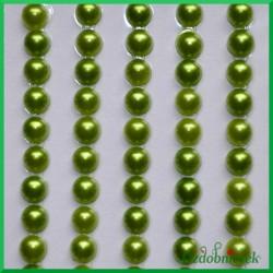 Perełki samoprzylepne 4mm zielone