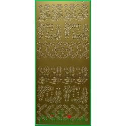 Stickersy złote ozdobniki BN
