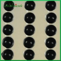 Perełki samoprzylepne 8mm czarne
