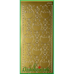 Stickersy złote Kurczak w jajku WN