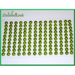 Perełki samoprzylepne 6mm jasne zielone