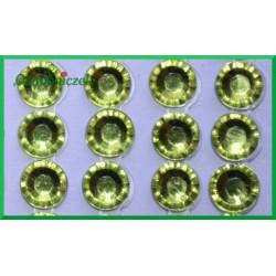 Diamenciki samoprzylepne 6mm cytrynowe