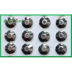 Diamenciki samoprzylepne 6mm srebrne metaliczne