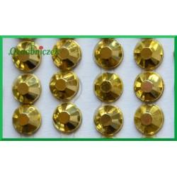 Diamenciki samoprzylepne 6mm złote metaliczne