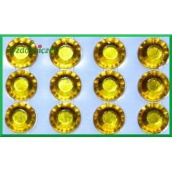 Diamenciki samoprzylepne 6mm złote przeźroczyste