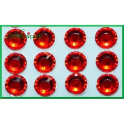 Diamenciki samoprzylepne 6mm czerwone
