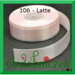 Tasiemka satynowa 25mm latte 106 SZTYWNA