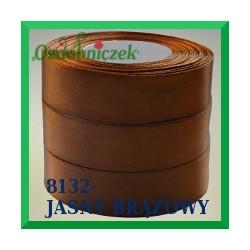 Wstążka tasiemka satynowa 6mm kolor jasny brązowy 8132