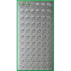 Stickersy srebrne obrączki R