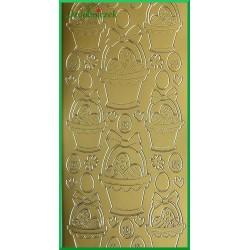 Stickersy złote koszyk WN