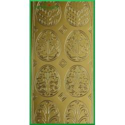 Stickersy złote wzorzyste pisanki WN