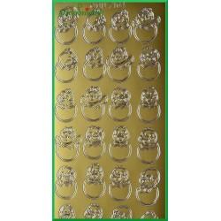 Stickersy złote kurczaki w jajkach WN