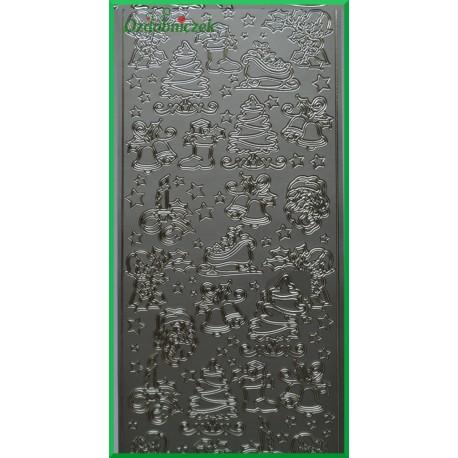 Stickersy srebrne Figurki Świąteczne BN
