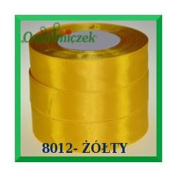 Wstążka tasiemka satynowa 12mm kolor żółty 8012