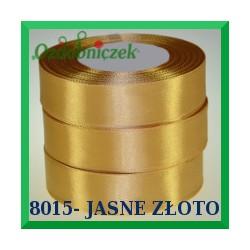Wstążka tasiemka satynowa 12mm kolor jasne złoto 8015
