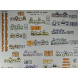 Makiety z papieru - domki - 2/2,5cm wzór 2
