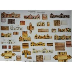 Makiety z papieru - domki - 2/2,5cm wzór 3