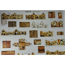 Makiety z papieru - domki - 2/2,5cm wzór 5