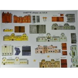 Makiety z papieru - domki - 2/2,5cm wzór 7