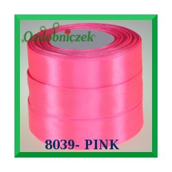 Wstążka tasiemka satynowa 12mm kolor pink 8039