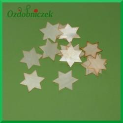 Gwiazdki z drewna osikowego 3.7cm