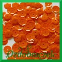 Cekiny 6mm pomarańczowe matowe 5g