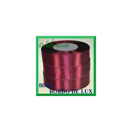 Tasiemka satynowa 12mm kolor bordo de lux 8060