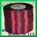 Wstążka tasiemka satynowa 12mm kolor bordo de lux 8060
