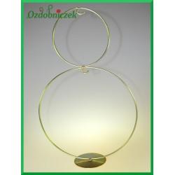 Stojak okrąg piętrowy złoty na jajko 8-15cm