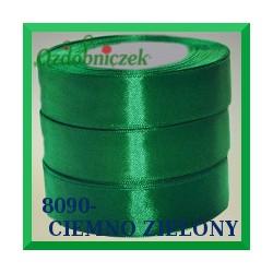 Wstążka tasiemka satynowa 12mm kolor ciemny zielony 8090