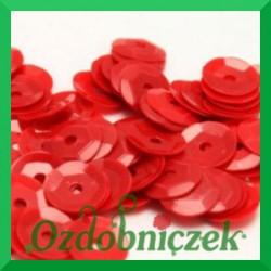Cekiny 6mm czerwone matowe 5g