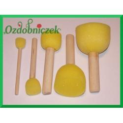 Pędzelki gąbkowe Sponge Brush set 5 sztuk