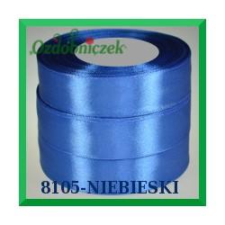 Tasiemka satynowa 12mm kolor niebieski 8105