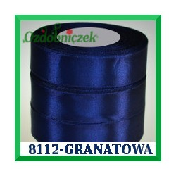 Wstążka tasiemka satynowa 12mm kolor granatowy 8112