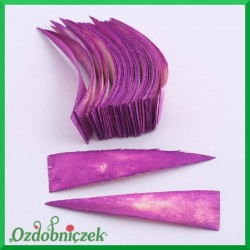 Paski klinowe purpurowe duże