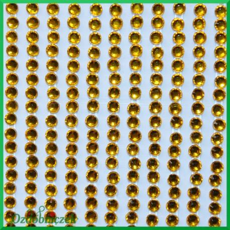 Diamenciki samoprzylepne 3mm złote