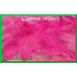 Pióra krótkie ciemne różowe 10g