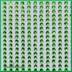 Diamenciki samoprzylepne 3mm seledynowe