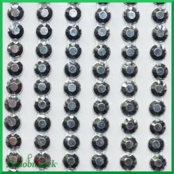 Diamenciki samoprzylepne 4mm srebrne metaliczne