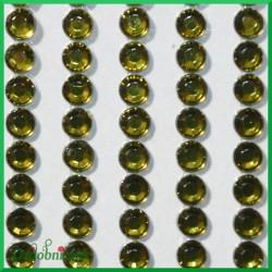 Diamenciki samoprzylepne 4mm oliwkowe