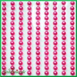 Perełki samoprzylepne 4mm amarantowe perłowe