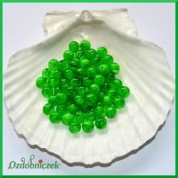 Perełki 8mm melanż zielony