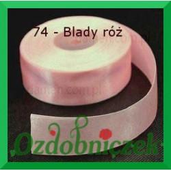 Tasiemka satynowa 25mm blady róż 74 SZTYWNA