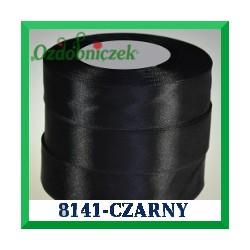 Tasiemka satynowa 12mm kolor szary czarny 8141