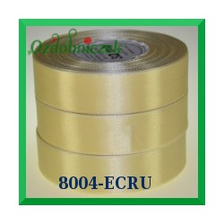Wstążka tasiemka satynowa 25mm kolor ecru 8004