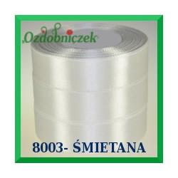 Wstążka tasiemka satynowa 25mm kolor śmietanowy 8003