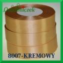 Wstążka tasiemka satynowa 25mm kolor kremowy 8007