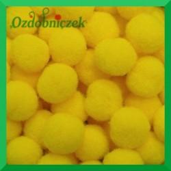 Pompony żółte 13mm/100szt