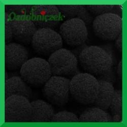 Pompony czarne 13mm/100szt